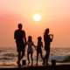 Family with Children at the Beach